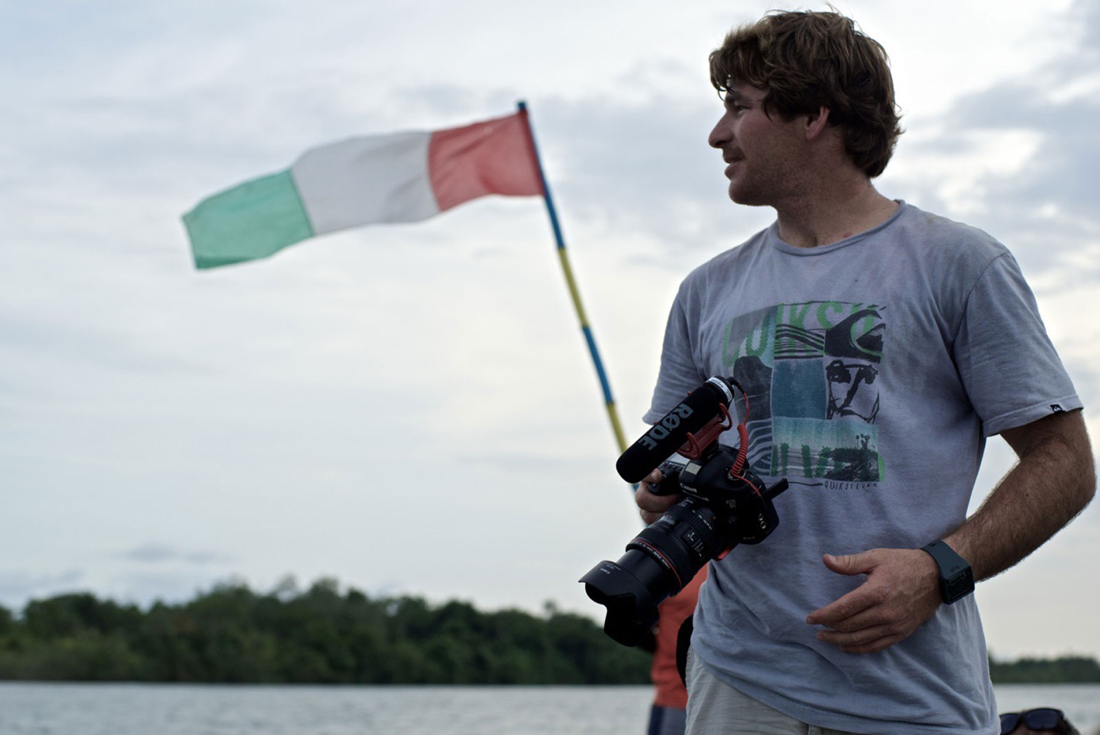 Kyle Buthman on location in Liberia